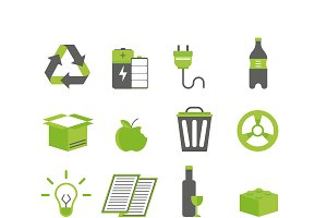 Recycling sorting nature icon vector