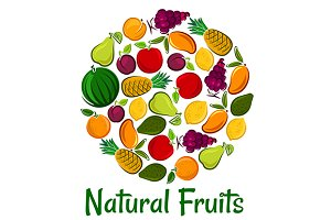 Fruits placard background