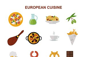 European tasty food vector