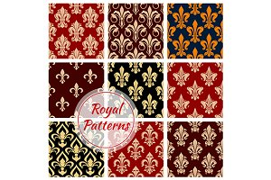 Royal floral decorative patterns