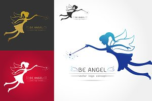 Fairy flying logo