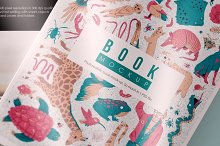 Hard Cover Front Back Book Mockup