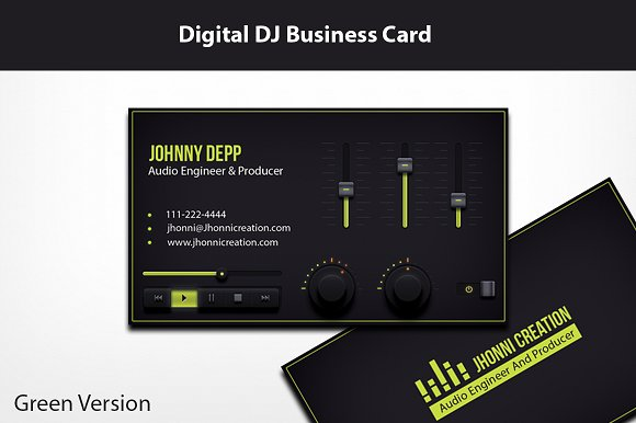 music producer and dj business card business card templates