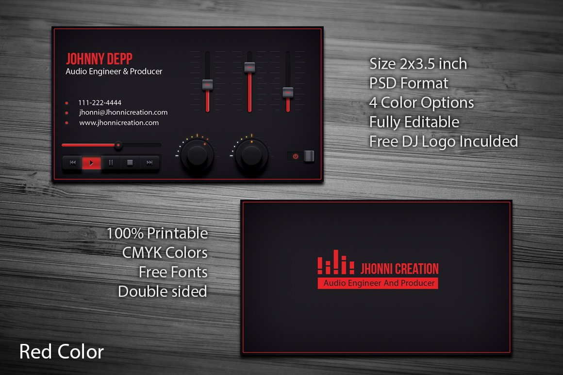 Music Producer And Dj Business Card Creative Daddy