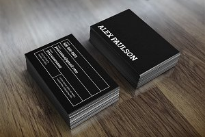 Bold Black Business Card 007