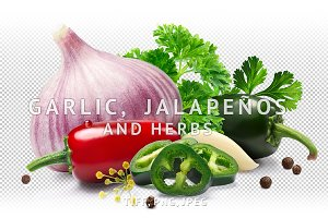 Garlic with jalapenos and herbs