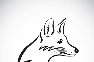 Vector of hand sketch a fox.