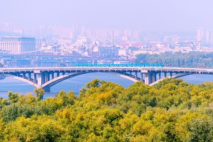 Metro bridge. Kiev, Ukraine