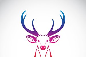 Vector of an deer head.