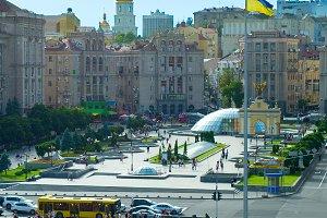 Maidan Nezalezhnosti Square.