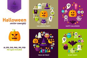 Scary Halloween Vector Concepts