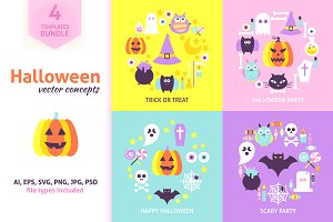 Halloween Vector Concepts