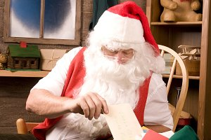 Santa Claus With Bag of Letters