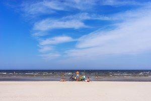 Baltic beach. Jurmala. Summer.