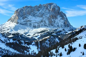 Winter rocky mountain, Italy