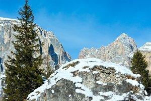 Winter rocky mountain, Italy
