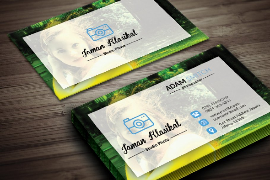 Abstrack Photographer Business Card in Business Card Templates - product preview 1