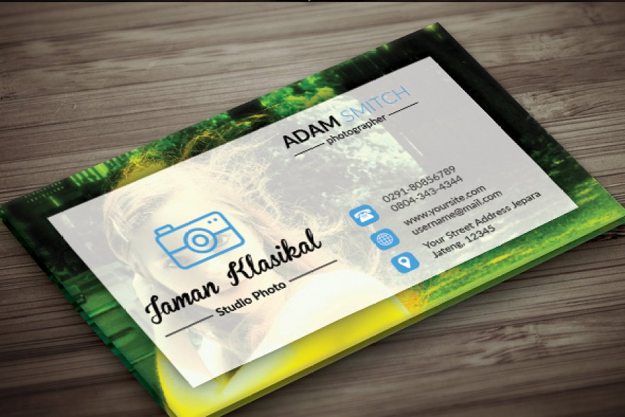 Abstrack Photographer Business Card in Business Card Templates