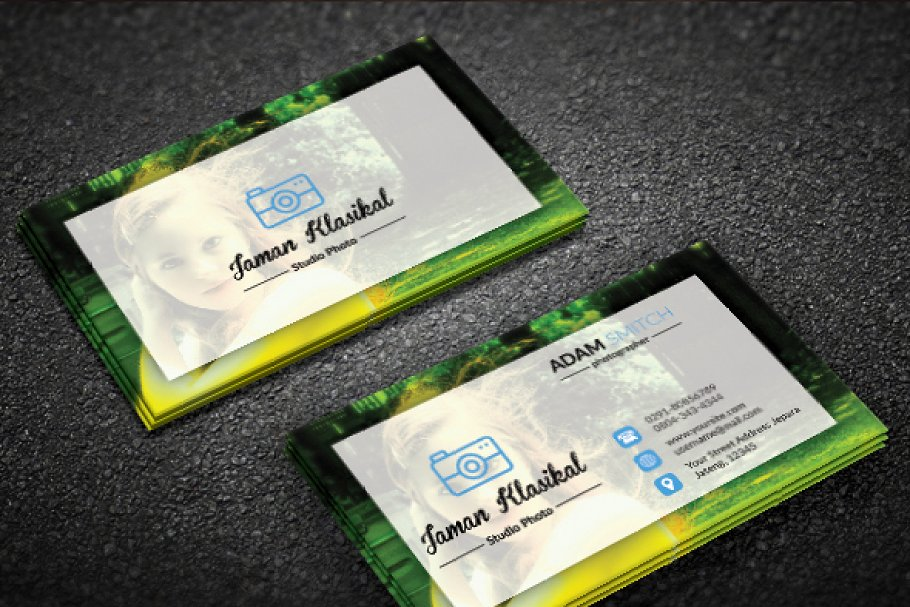 Abstrack Photographer Business Card in Business Card Templates - product preview 2