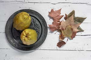 Quinces and pomegranates