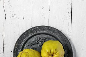 Quinces and pomegranates