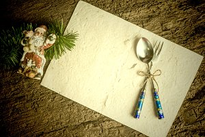 Christmas menu  background card