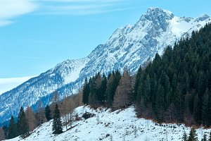 Winter mountain landscape,Italy