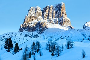 Winter mountain landscape,Italy