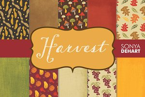 Harvest Fall Digital Paper & Texture