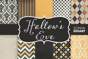 Hallow's Eve Textured Digital Papers