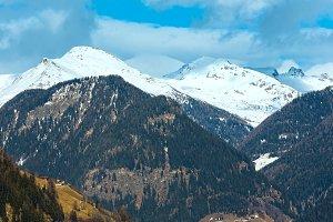 Winter mountain landscape, Austria