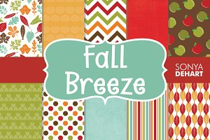 Fall Breeze Digital Paper Patterns