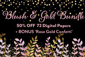 50% OFF Blush & Gold Bundle