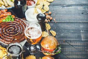 Oktoberfest beer and snacks set
