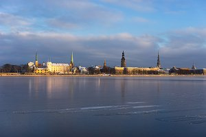 Riga, Latvia. Winter