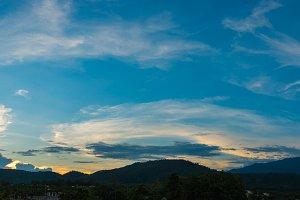 panorama sky and mountain
