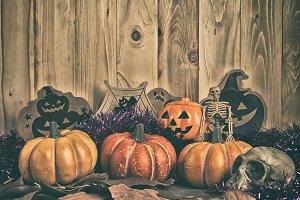 vintage tone halloween background
