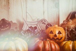 vintage tone halloween background.