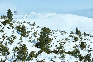 Winter dolomite mountains