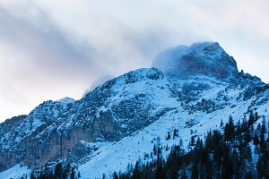 Winter dolomite mountains