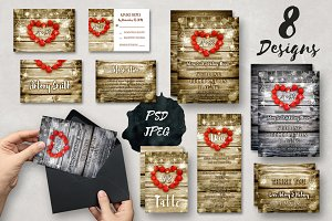 Wedding Invitation Suite - Rustic