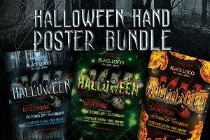 Halloween Hand Poster Templates