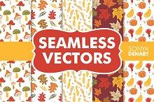 Seamless Fall Vector Patterns