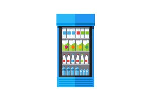 Showcase Refrigerator Drinks