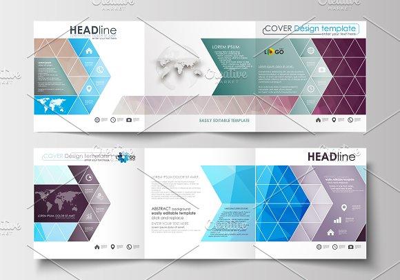 Flat design templates v.8 - Brochures