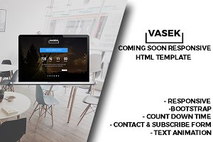 Vasek - Coming Soon HTML Template