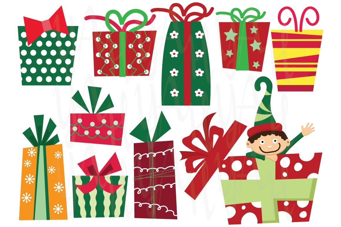Christmas presents clip art illustrations creative market negle Gallery