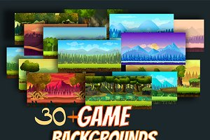 30+ Game Backgrounds Pack 2