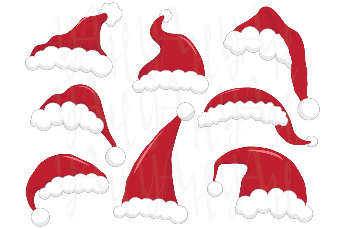Santa hat clip art Photos, Graphics, Fonts, Themes, Templates ...
