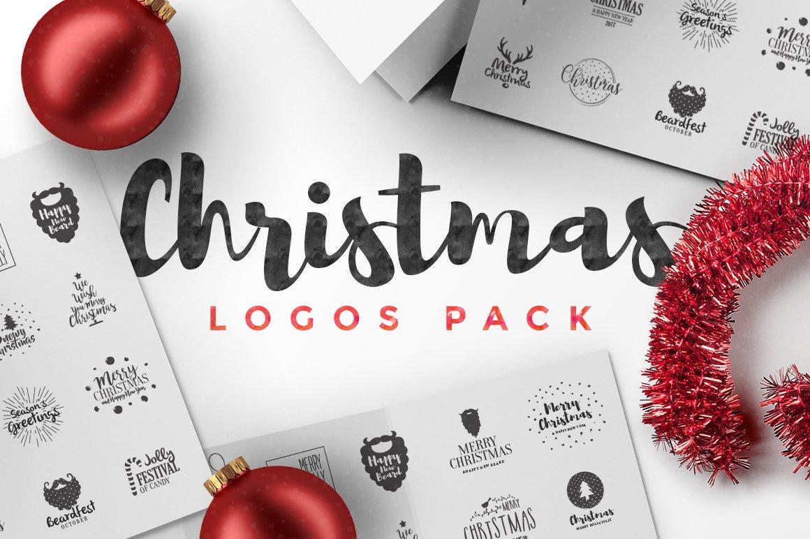 Christmas Logos Pack ~ Logo Templates ~ Creative Market